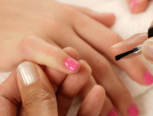 Manicure close-up