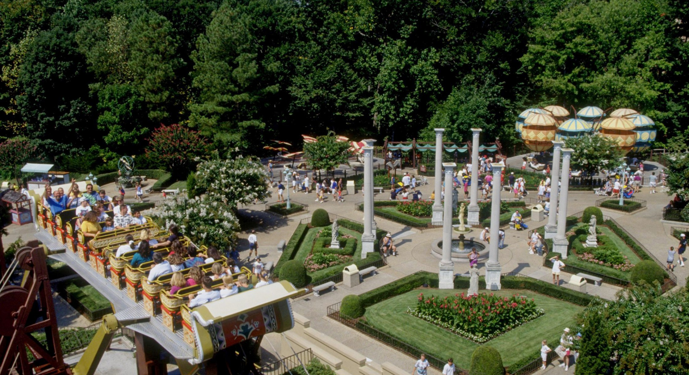 At Da Vinci's Garden of Inventions at Busch Gardens® Williamsburg, guests find thrill rides that pay tribute to the genius of the 15th-century Italian artist and inventor Leonardo Da Vinci. ©2013 SeaWorld Parks & Entertainment, Inc. All Rights Reserved.