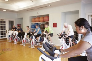 Spin fitness center recreation