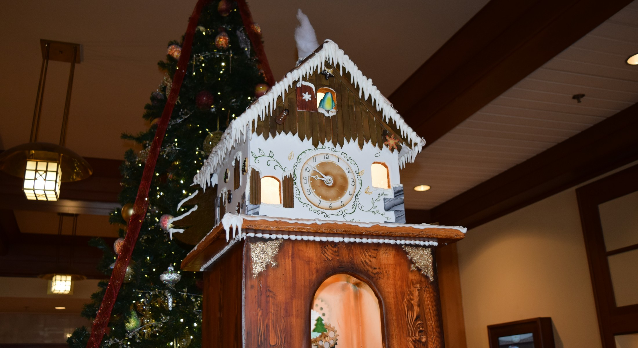 Gingerbread clock christmas