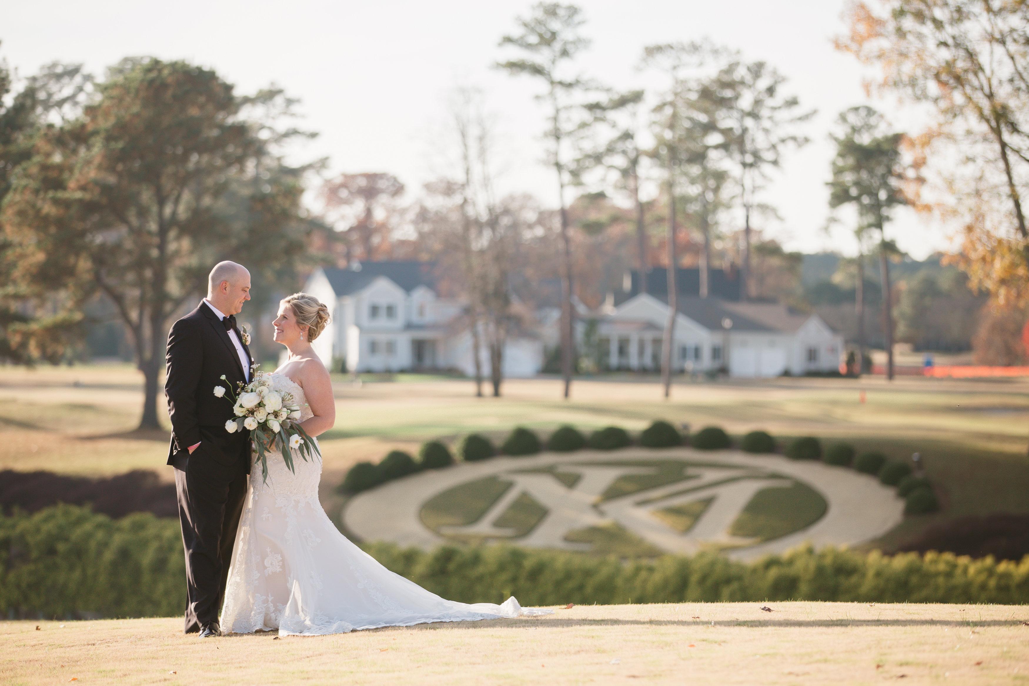 KM crest wedding photo
