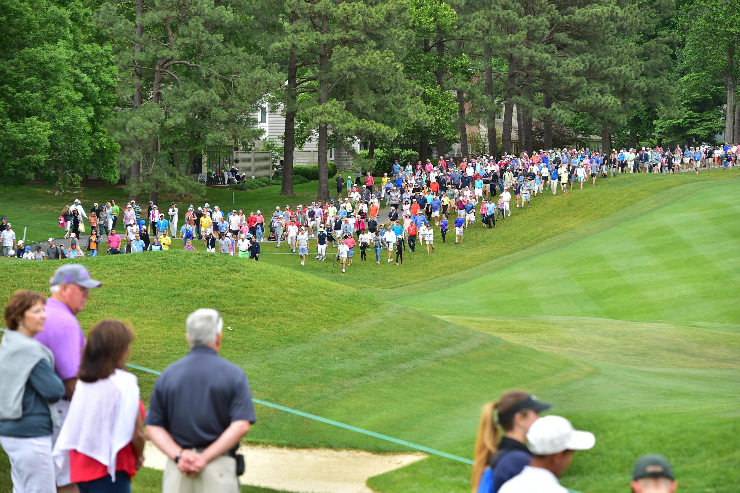 LPGA tournament crowd