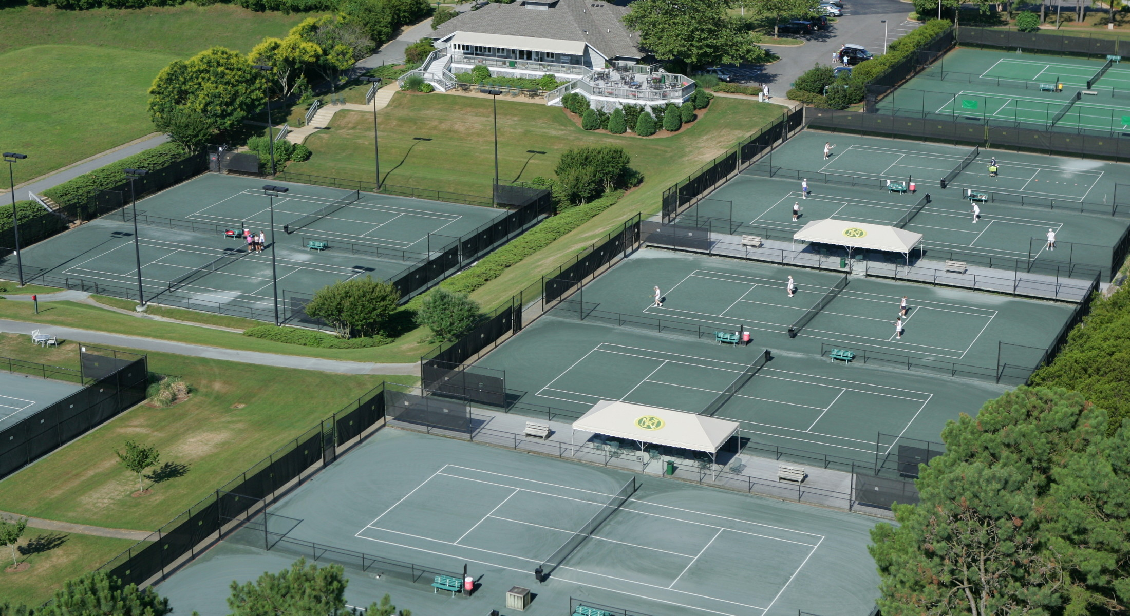 Aerial of Tennis Courts