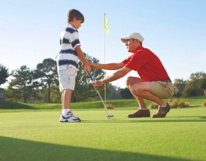 Golf Lesson for Little Boy