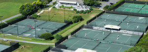 Aerial view of The Tennis Club at Kingsmill Resort