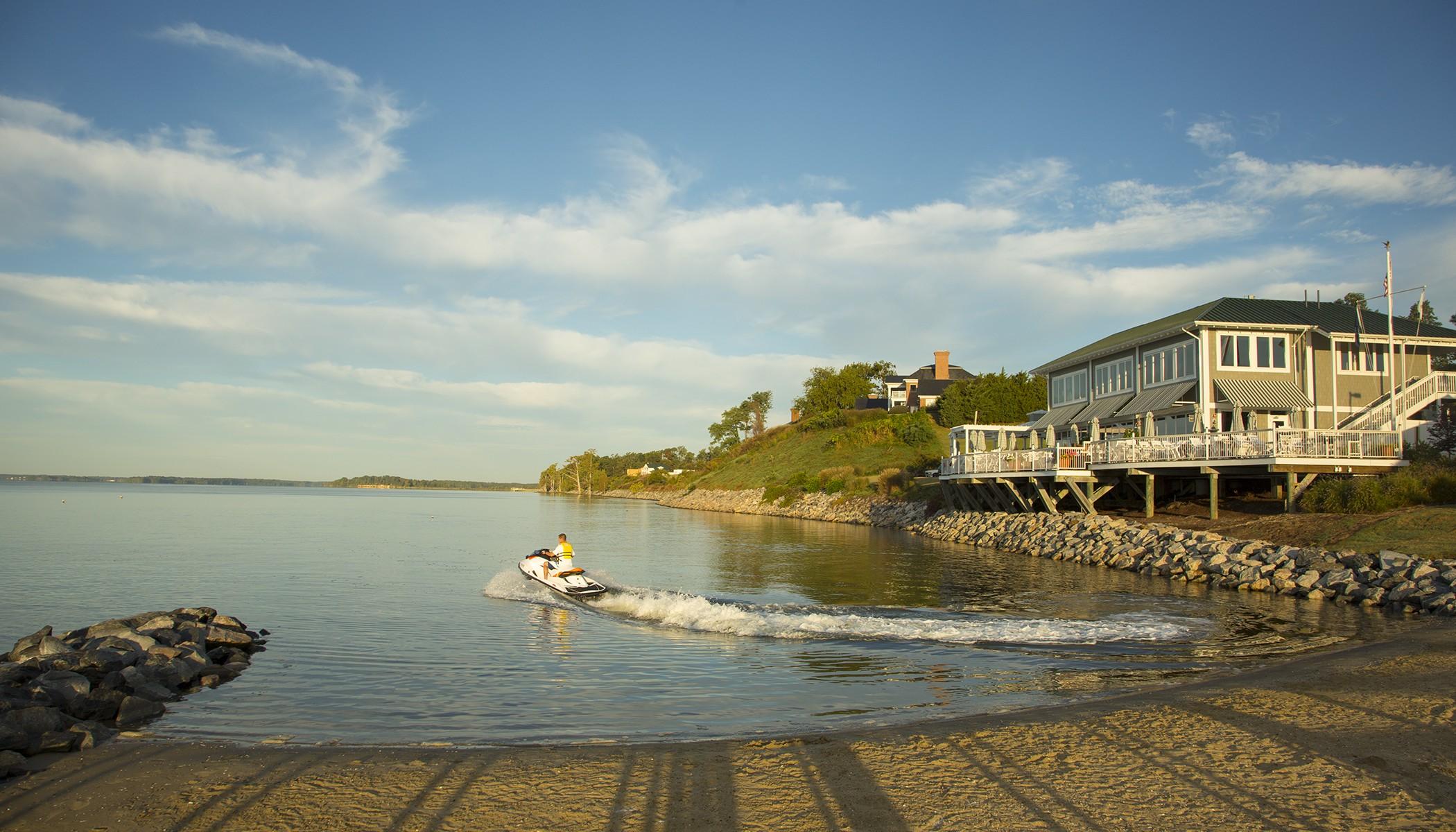 Jet Ski leaving the marina