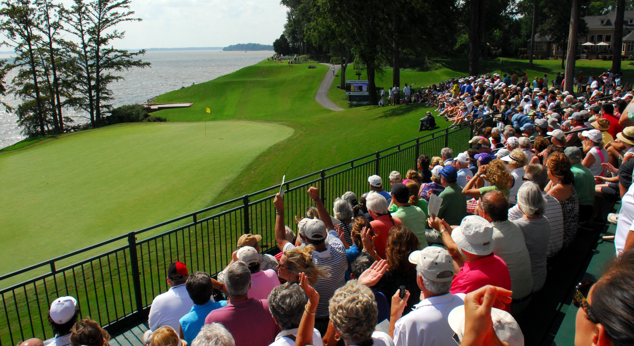 Grand Stand of People Watching Golf
