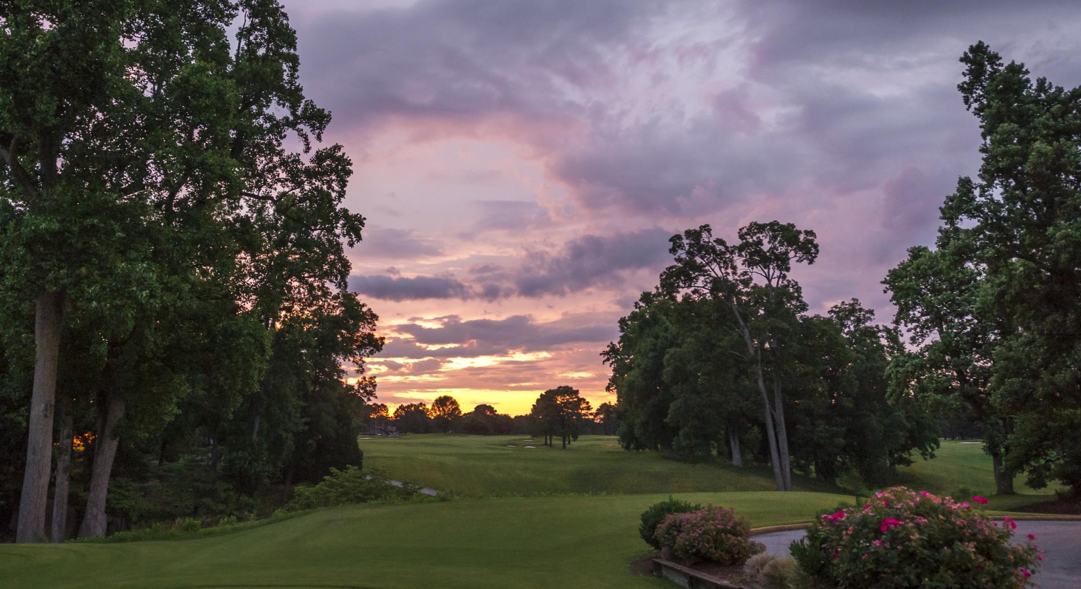 Kingsmill Resort Golf at Dusk