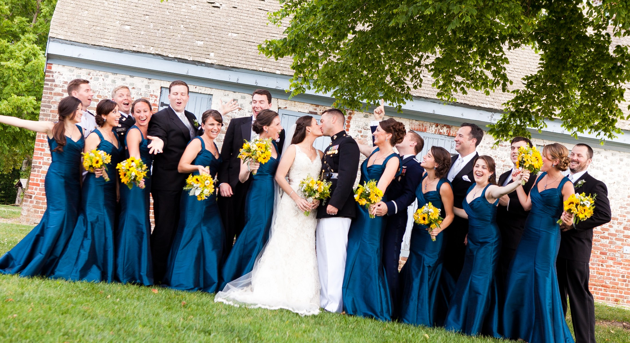 Military Wedding - Blue & Yellow Color Theme