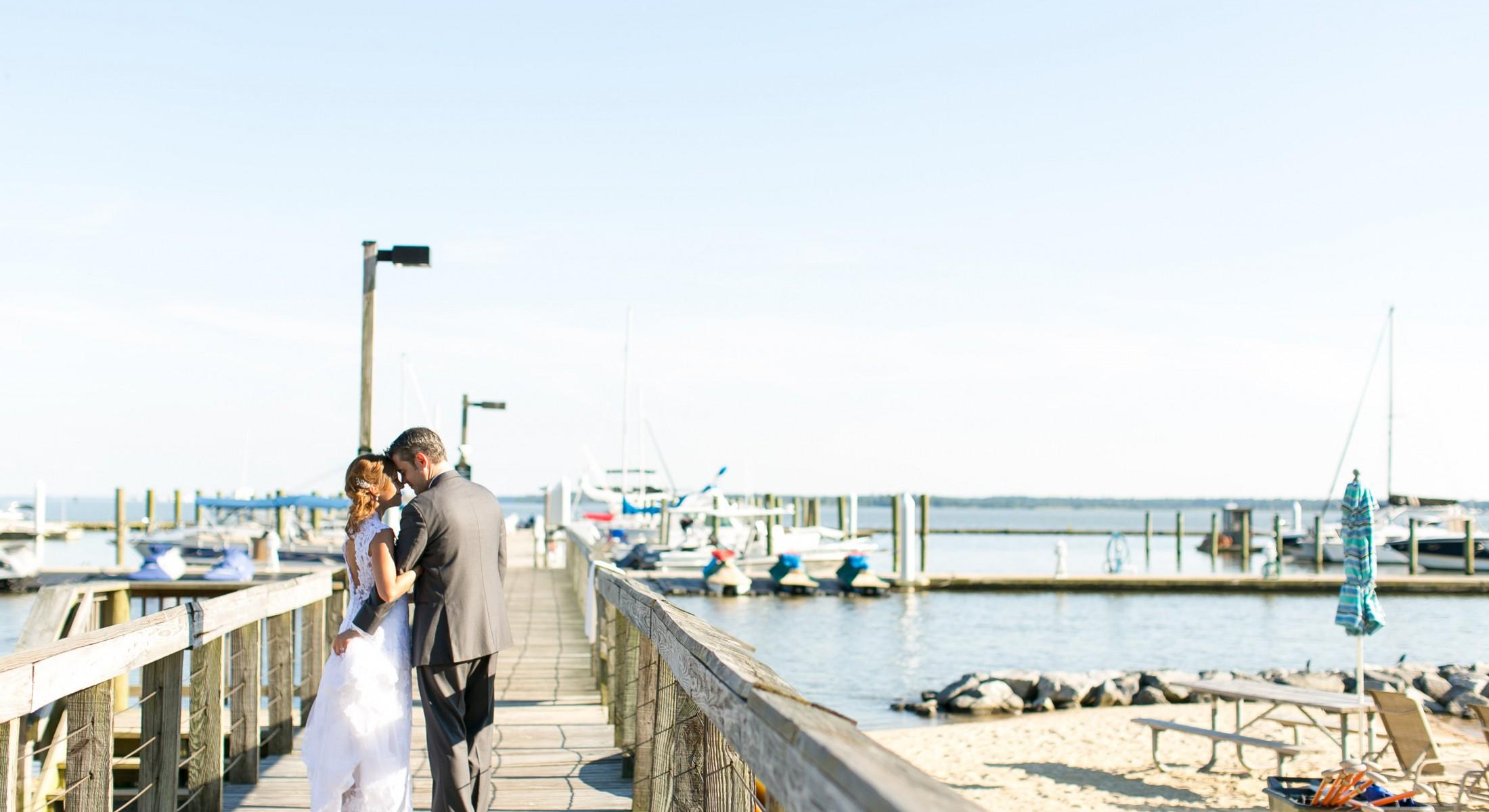 View More: http://jenandashley.pass.us/fetznerwedding; wedding shot at marina