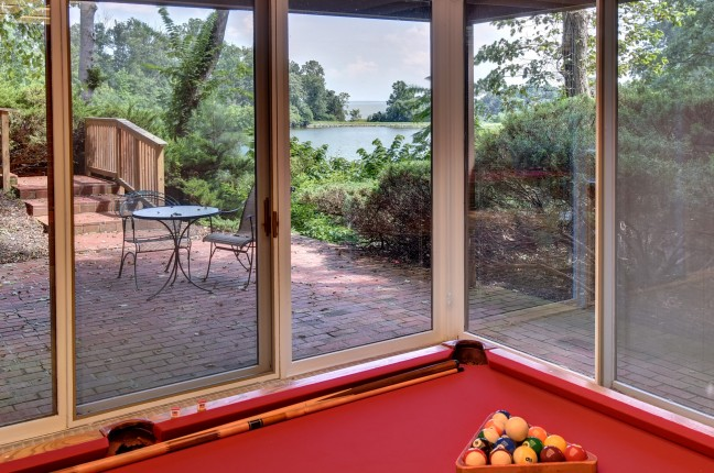 Lower Level View 402; pool table; view of wareham's pond