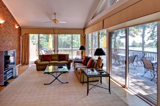400 living room; view of wareham's pond