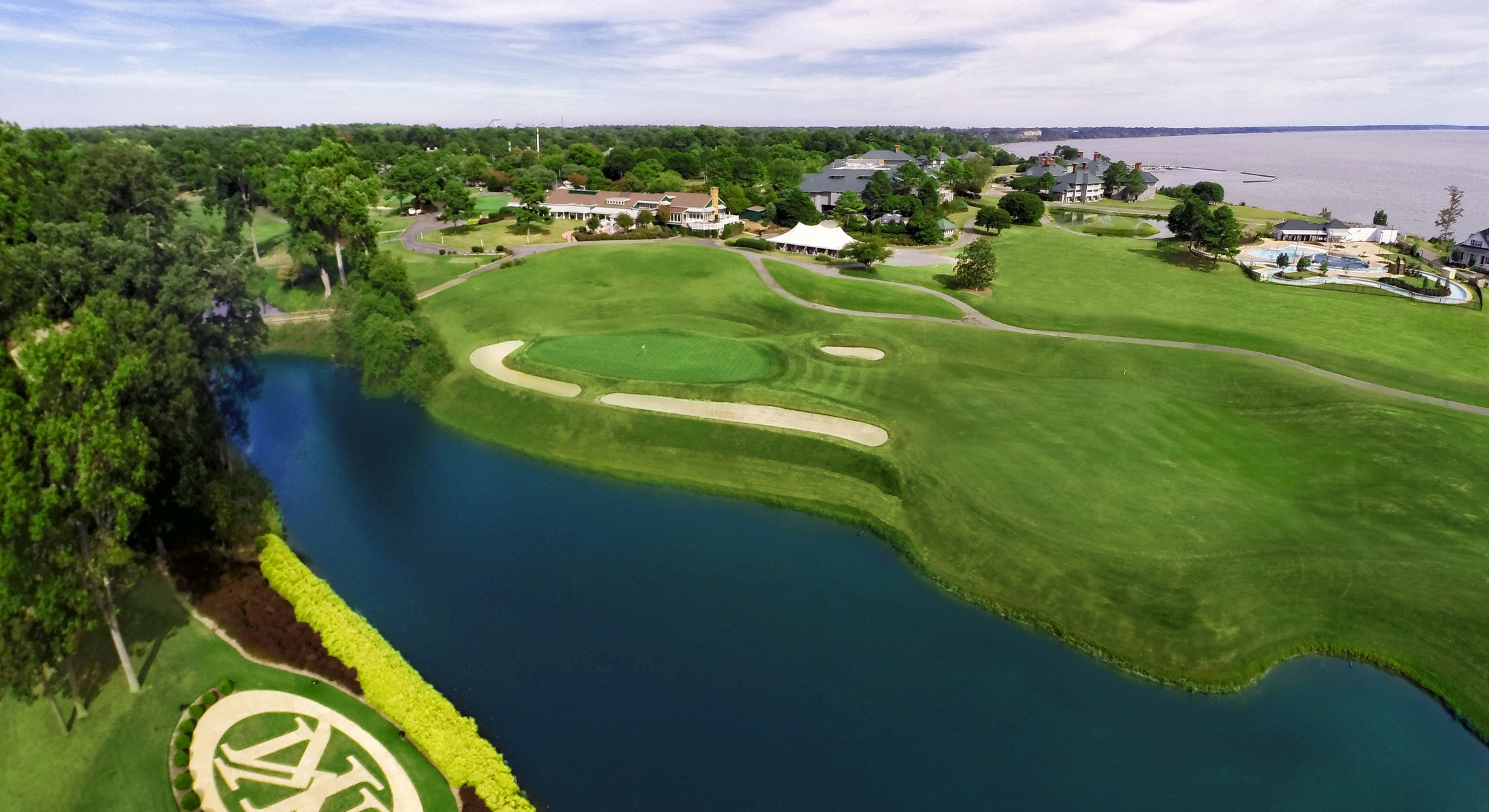 Aerial River Course 18th hole