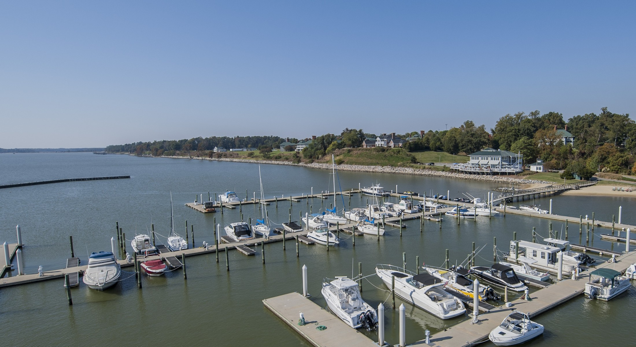Aerial View of Kingsmill Marina