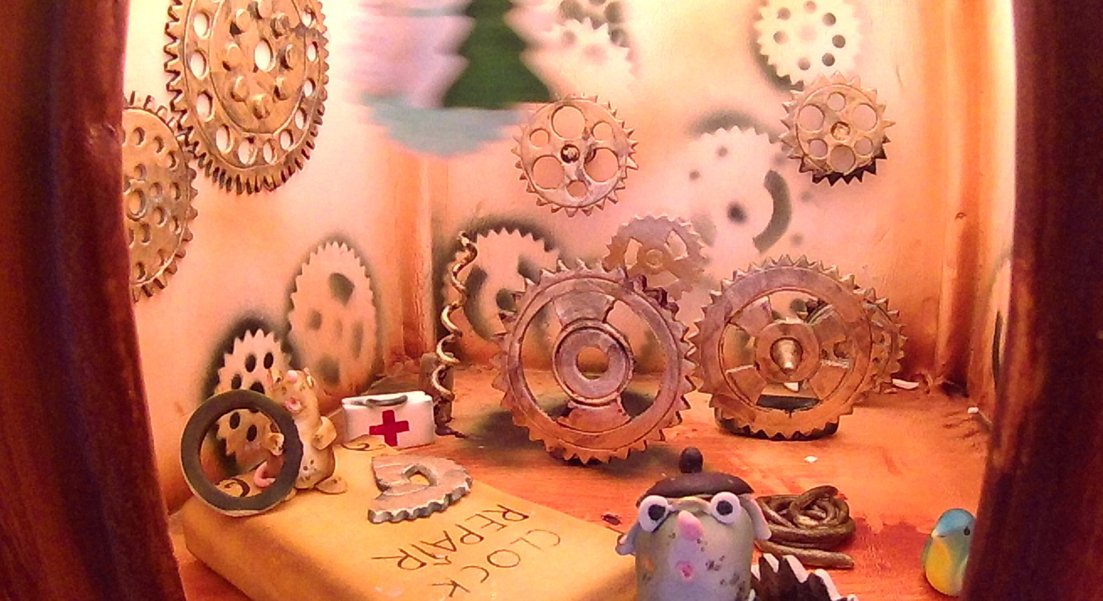 Christmas Clock in Lobby Gingerbread