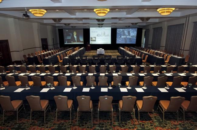 Ballroom Set Up U Shape for Group Meeting