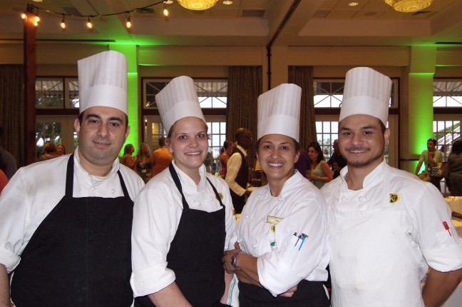 Four Chefs Posing for Photo