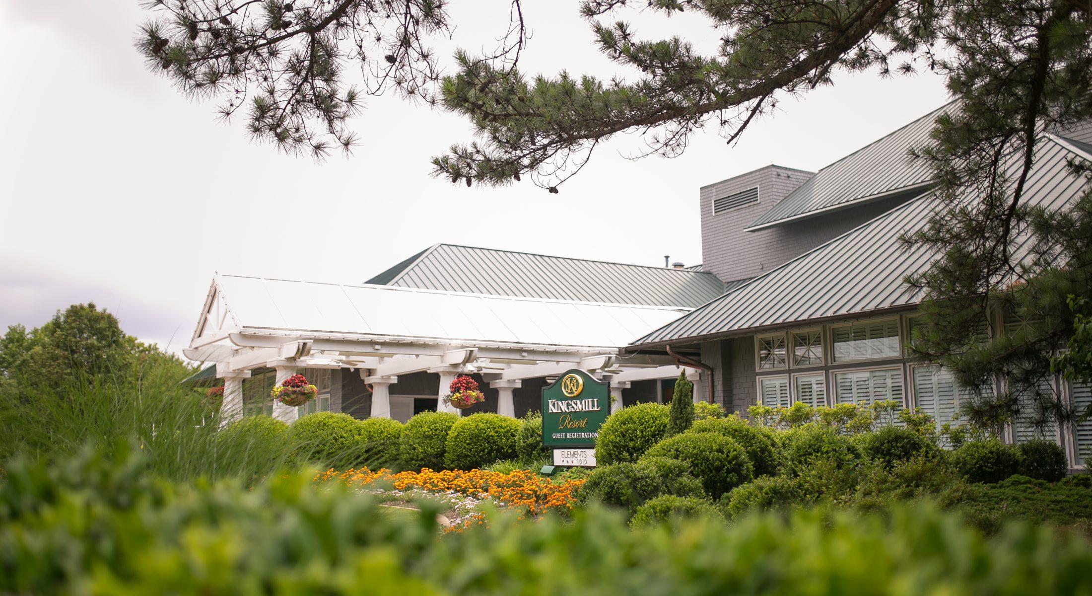 resort center flowers landscaping