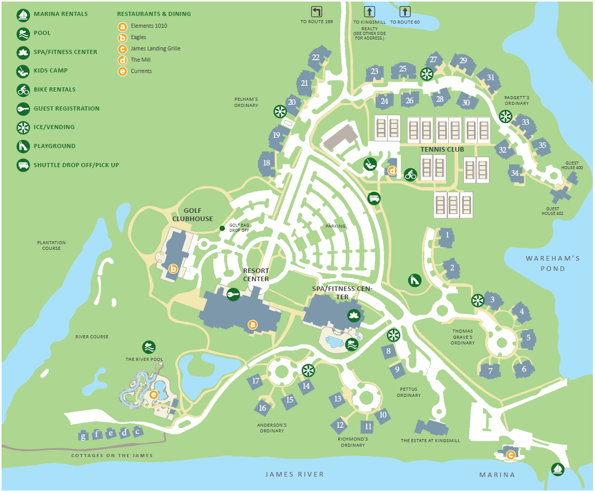 Map of Resort