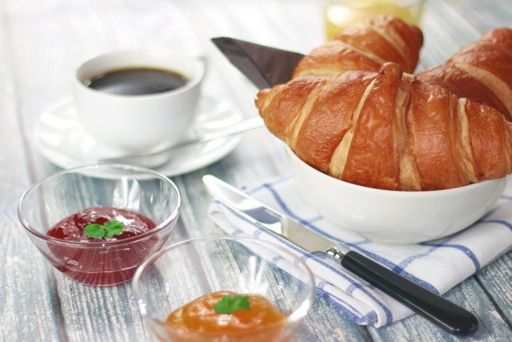 Romantic Weekend Getaway Croissant Breakfast