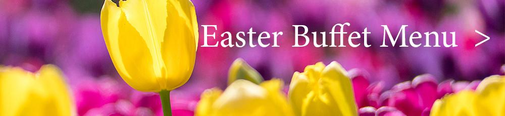 Easter buffet menu banner