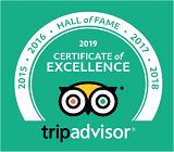 2019 Tripadvisor Hall of Fame