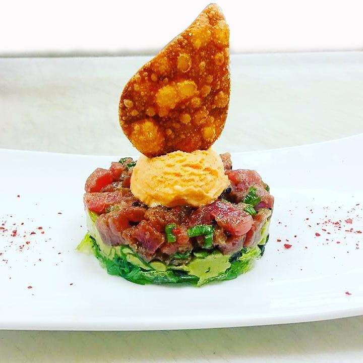 Tuna Tartare with Siracha Ice Cream