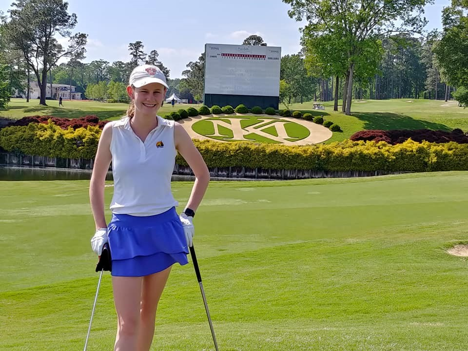 Girl at LPGA Junior Invitational at Kingsmill.