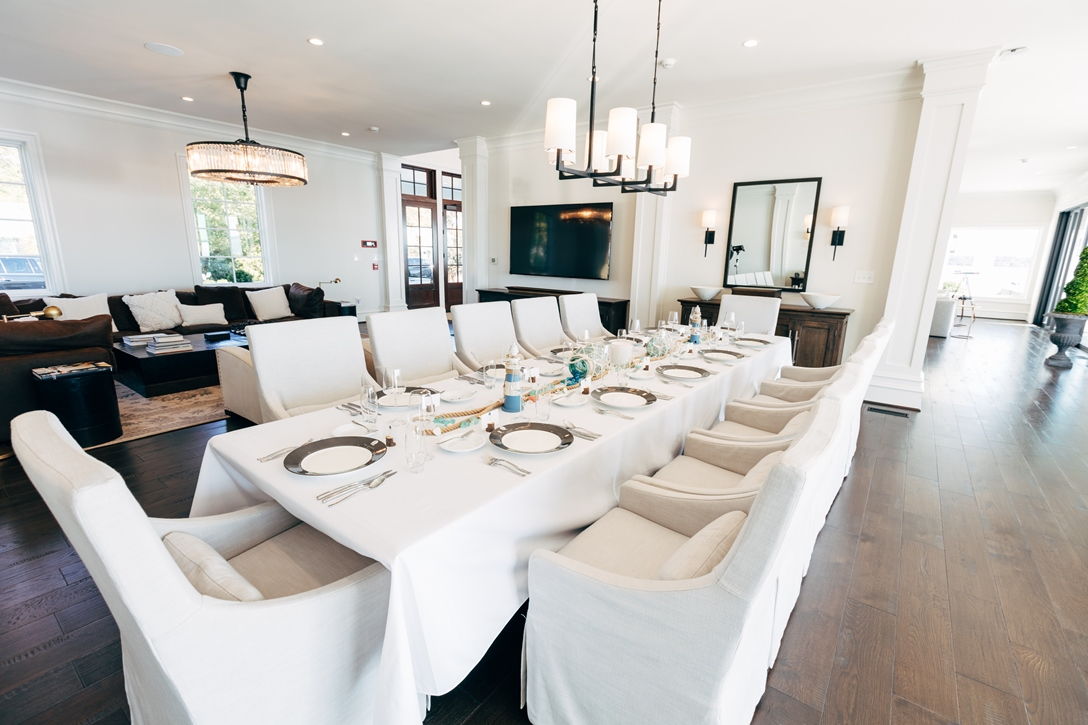 Formal dining room with seating for 12 guests
