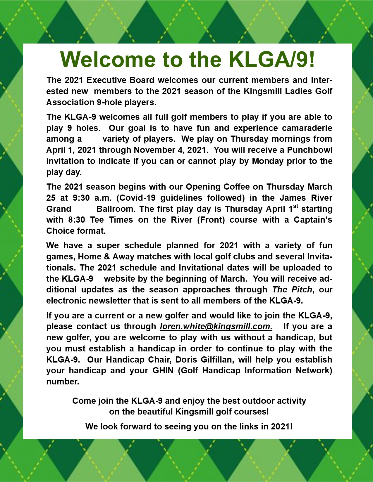 Welcome to the KLGA9